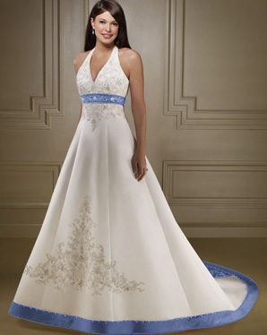 Please tell me where to find a blue wedding dress